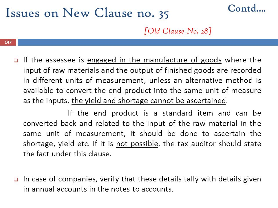 Issues on New Clause no. 35 [Old Clause No. 28]
